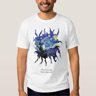 Van Gogh torcido T-shirts