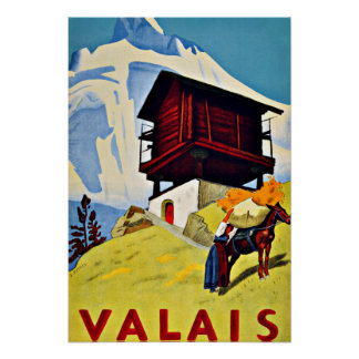 Vancôver, viagens vintage da suiça poster