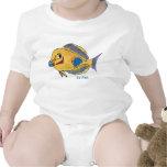 Vão os peixes dos desenhos animados dos peixes bon camiseta