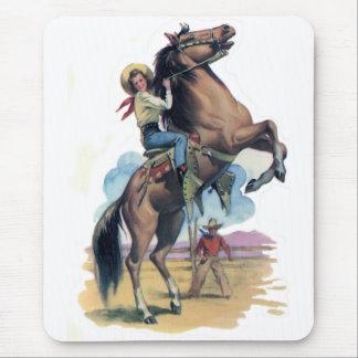 Vaqueira no cavalo mouse pad