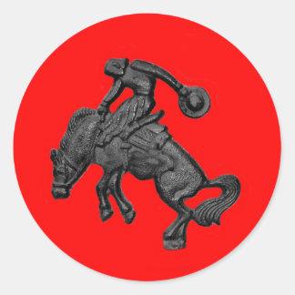 Vaqueiro Bucking .jpg do cavalo de Texas Adesivo