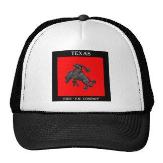 Vaqueiro Bucking .jpg do cavalo de Texas Boné