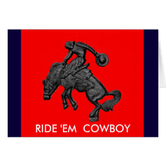 Vaqueiro Bucking .jpg do cavalo de Texas Cartão Comemorativo