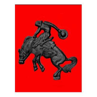 Vaqueiro Bucking .jpg do cavalo de Texas Cartão Postal