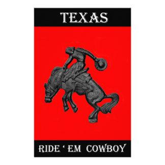 Vaqueiro Bucking .jpg do cavalo de Texas Papelaria