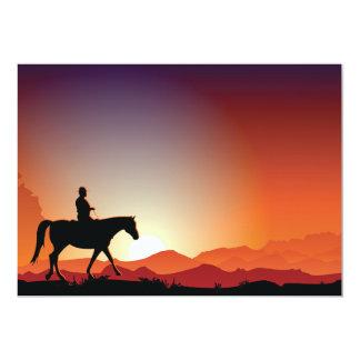 Vaqueiro convites de montada de um cavalo