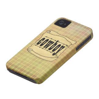 Vaqueiro de papel Blackberry do vintage w/Scroll iPhone 4 Capas