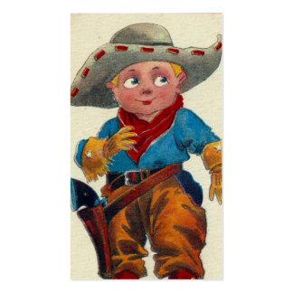 Vaqueiro do miúdo do vintage modelos cartao de visita