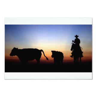 Vaqueiro do por do sol convite 8.89 x 12.7cm