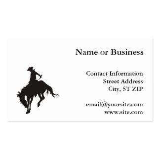 Vaqueiro do rodeio cartão de visita