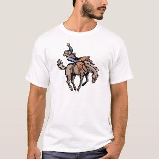 vaqueiro do rodeio e cavalo bucking t-shirts
