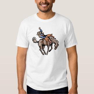 vaqueiro do rodeio e cavalo bucking tshirt