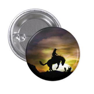 Vaqueiro e botão Bucking do cavalo Bóton Redondo 2.54cm