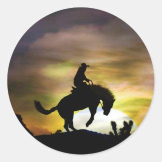 Vaqueiro e etiquetas Bucking do cavalo Adesivo