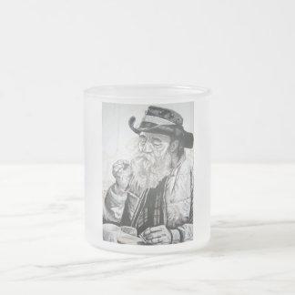 Vaqueiro idoso caneca de café vidro jateado