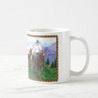 Vaqueiro nas montanhas caneca de café