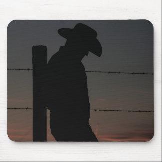 Vaqueiro no por do sol mouse pad