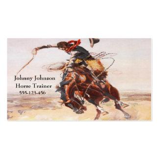 Vaqueiro ocidental no modelo Bucking do cavalo Cartão De Visita