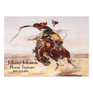 Vaqueiro ocidental no modelo Bucking do cavalo Cartão De Visita Grande