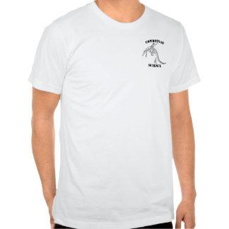 Vaqueiros da camisa da ciência camisetas
