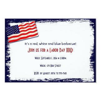 Vara Folkart do Popsicle da bandeira americana Convite 8.89 X 12.7cm