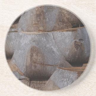 Variado. Série da árvore---Porta copos do tronco d Porta Copos De Arenito