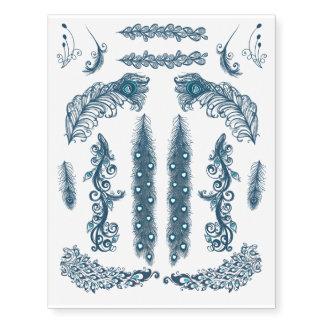 Variedade azul da pena do pavão
