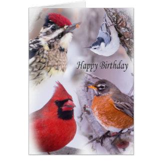 Variedade de cartão do feliz aniversario dos