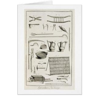 Variedade de ferramentas de jardinagem, 'do cartão comemorativo