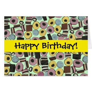 Variedade do Liquorice - cartão de aniversário 2