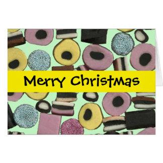 Variedade do Liquorice - cartão de Natal