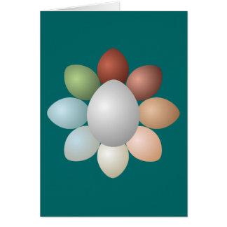 Variedade dos ovos cartão comemorativo