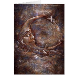 Variedades 01# azuis/de cobre da lua de Carolina - Cartão Comemorativo