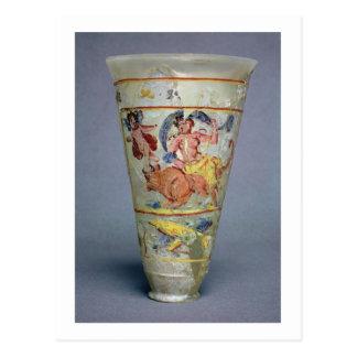 Vaso com a decoração pintada que descreve o Europa Cartão Postal