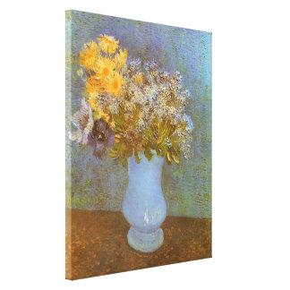 Vaso com Lilacs e margaridas por Vincent van Gogh