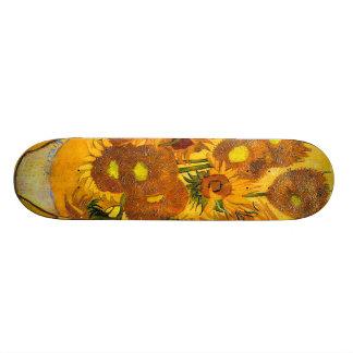 Vaso com os quinze girassóis por Vincent van Gogh Shape De Skate 21,6cm