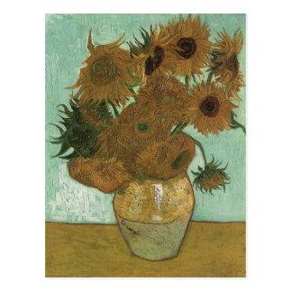 Vaso de Van Gogh com 12 girassóis Cartão Postal
