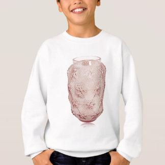 Vaso de vidro do art deco cor-de-rosa com bolhas tshirt