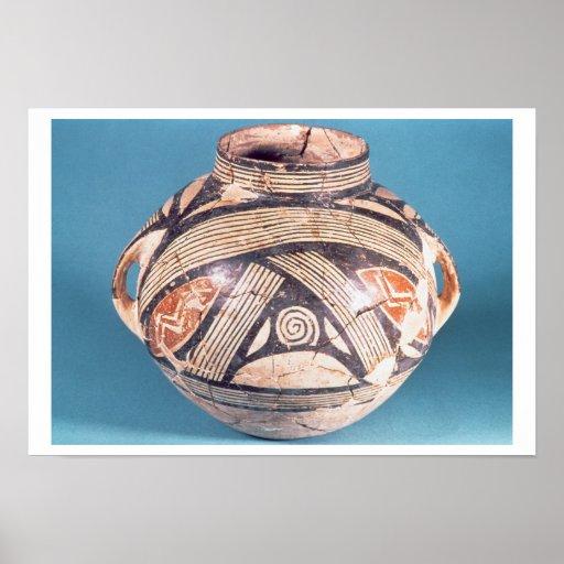 Vaso do século VII de Dimini (Volos atual) BC (p Poster