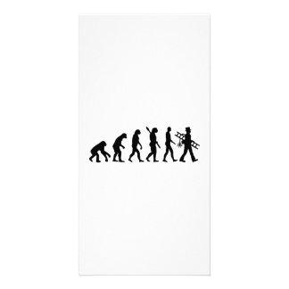 Vassoura da chaminé da evolução cartão com foto