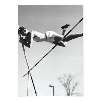 Vaulter de pólo masculino convite 12.7 x 17.78cm