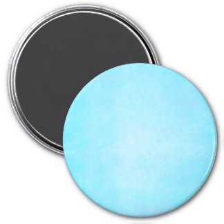 Vazio claro azul do modelo da aguarela da cerceta ímã redondo 7.62cm