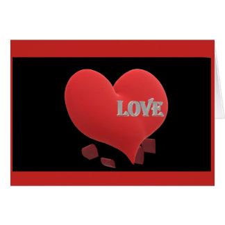 """Vazio 'do amor"""" do cartão para dentro"""