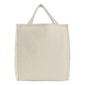 Vazio liso sobre o bordado do bolsa DIY do ombro