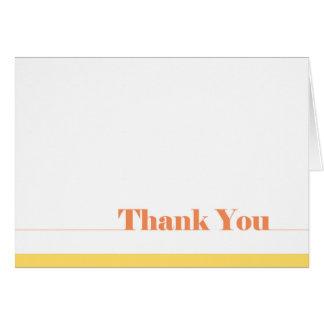 Vazio simples dos cartões de agradecimentos para