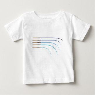 Vazios curvados da haste da haste de pesca vetor t-shirt