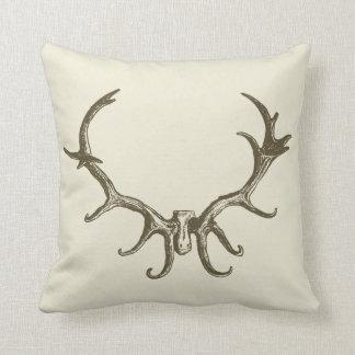 Veado retro de caça à moda do Antler dos cervos do Almofada