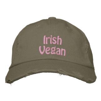 Vegan irlandês, o dia de St Patrick, verde cor-de- Bones Bordados