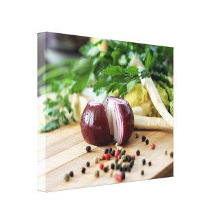 Vegetais da cozinha impressão em tela