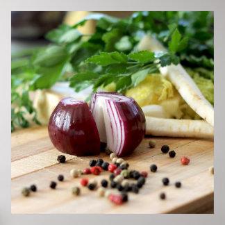 Vegetais da cozinha poster